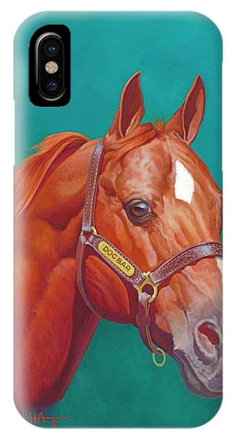 Doc Bar IPhone X Case featuring the painting Doc Bar by Howard DUBOIS