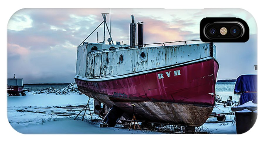 Rvh IPhone X Case featuring the photograph 017 - Dry Dock by David Ralph Johnson