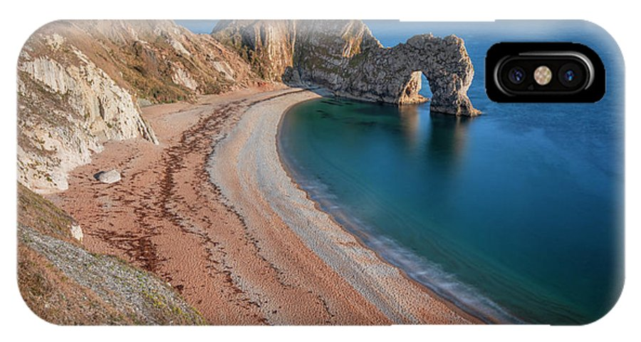 Durdle Door IPhone X Case featuring the photograph Durdle Door In Summer by Joana Kruse