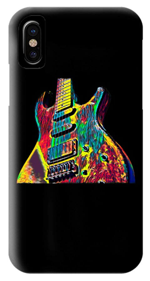 Cool IPhone X Case featuring the digital art Electric Guitar Musician Player Metal Rock Music Lead by Super Katillz