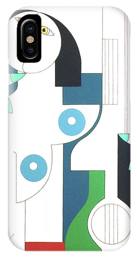 Women IPhone X Case featuring the painting Etude by Hildegarde Handsaeme