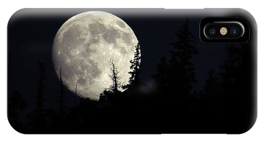 Moon IPhone X Case featuring the photograph Evening Light by Carol Milisen