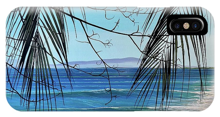 Beach IPhone X Case featuring the painting Everything's Different Now by Hunter Jay