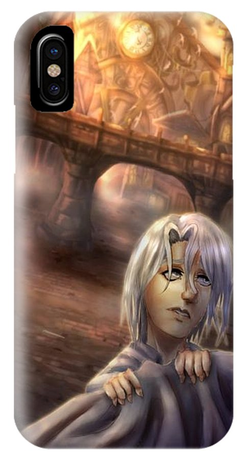 Character IPhone X Case featuring the digital art Excuse Me by Mykenzi Griffin