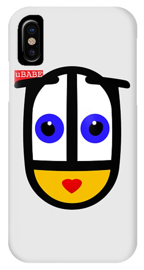 Ubabe Face IPhone X Case featuring the digital art Famous Female Face by Ubabe Style