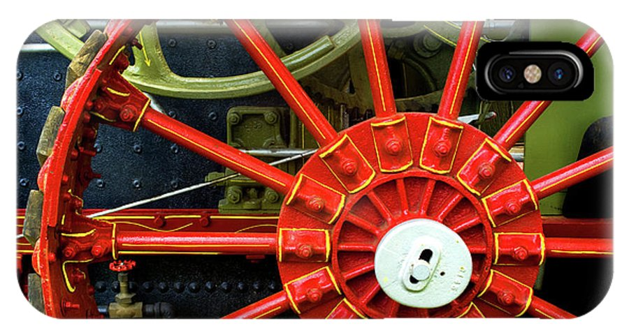 Wheel IPhone X Case featuring the photograph Fancy Tractor Wheel by Paul W Faust - Impressions of Light
