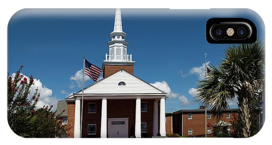 First Baptist Church IPhone X Case featuring the photograph First Baptist Church North Myrtle Beach S C by Bob Pardue