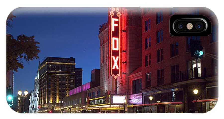 Fox Theater IPhone X Case featuring the photograph Fox Theater Twilight by Scott Rackers