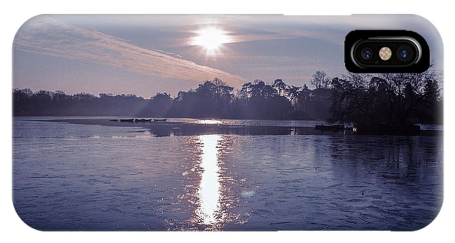 Lake IPhone X Case featuring the photograph Frozen by Claire Lowe