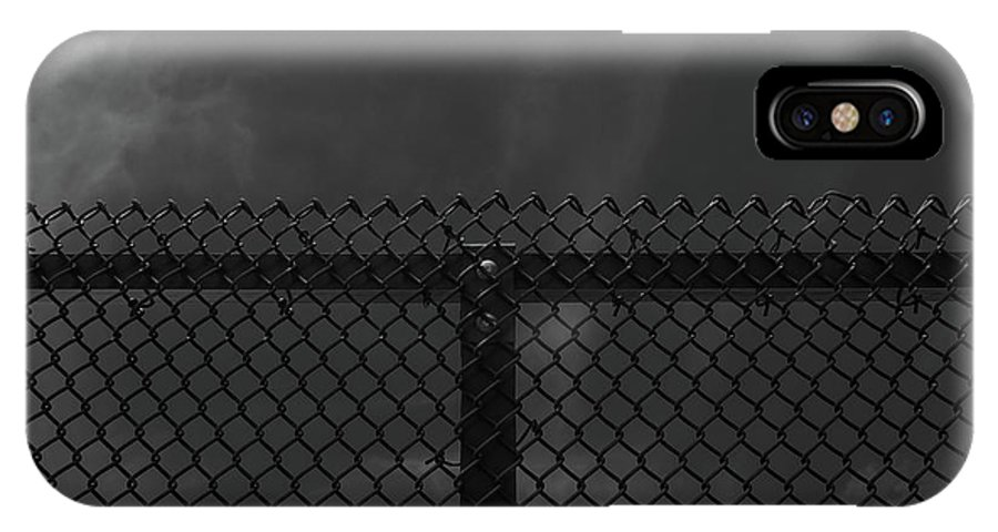 Symmetry IPhone X Case featuring the photograph Gated by Len Tauro