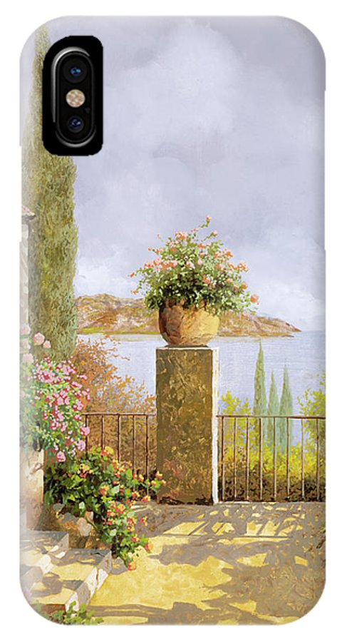 Seascape IPhone X Case featuring the painting Giallo Morbido by Guido Borelli