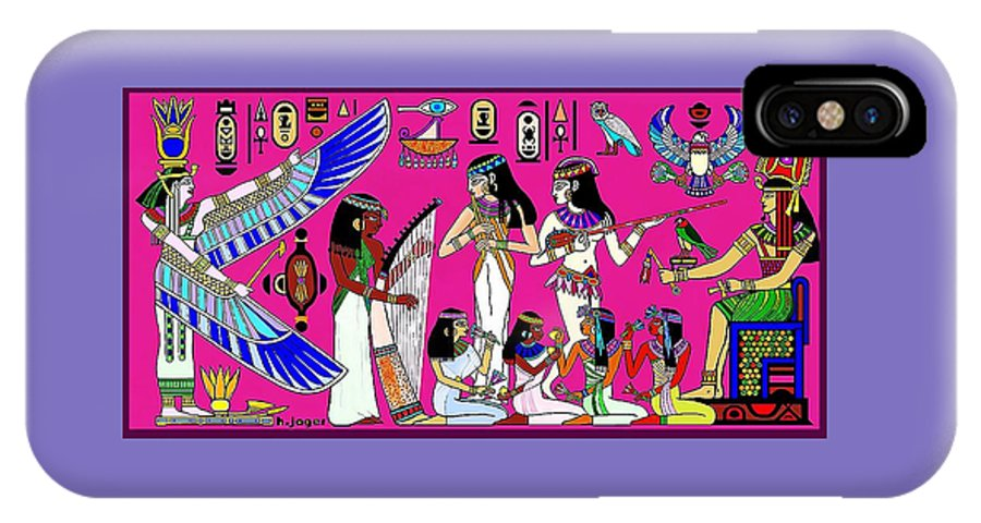 Egypt IPhone X Case featuring the digital art Glorious Egypt by Hartmut Jager