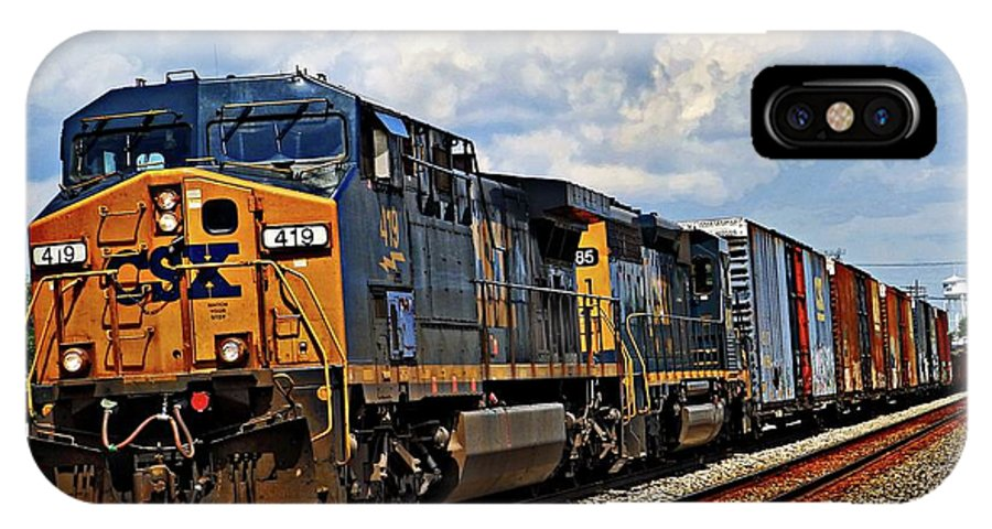 Union City In IPhone X Case featuring the photograph Going On A Train Ride by Robert M Worth Jr