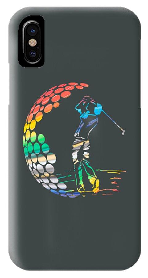 Golf Sport Surfing Cartoon Beach Girls Daving Superhero Soccer Tennis Man Enjoy Amazing Cool Snopy IPhone X Case featuring the digital art Golf by Tri Winarto
