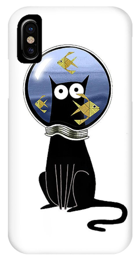 Goldfish IPhone X Case featuring the mixed media Guilty by Andrew Hitchen