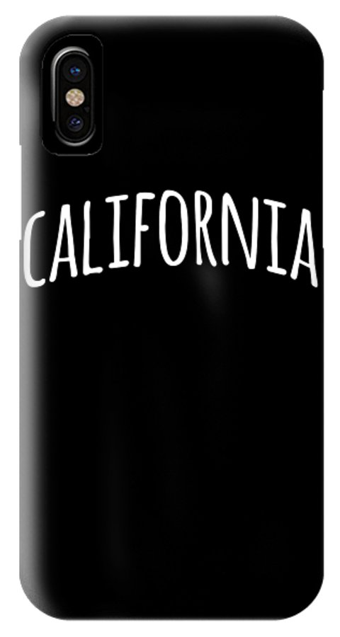 Cool IPhone X Case featuring the digital art Hand California by Flippin Sweet Gear