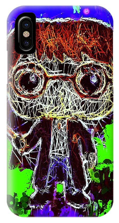 Unko Pop IPhone X Case featuring the mixed media Harry Potter Pop by Al Matra