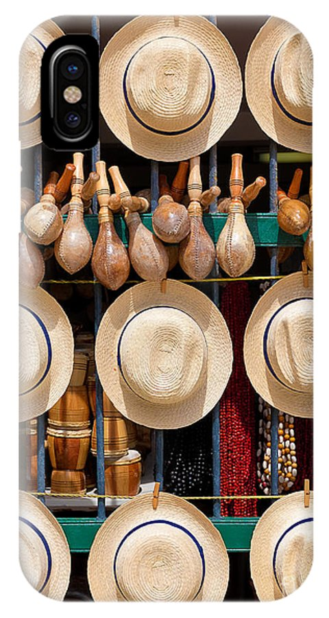 Gift IPhone X Case featuring the photograph Hats, Musical Instruments,religious by Kamira