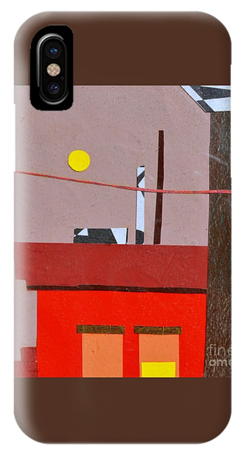 City IPhone X Case featuring the mixed media Hazy Rooftops 2 by Debra Bretton Robinson