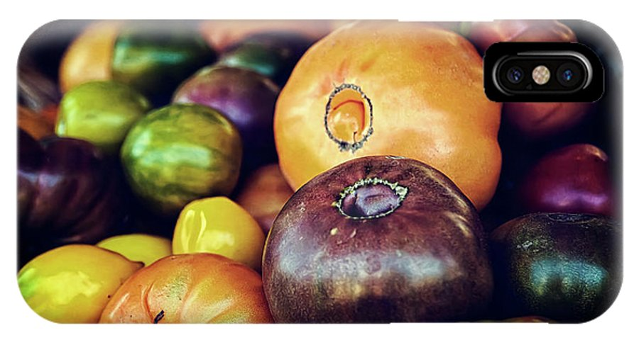 Fruit IPhone X Case featuring the photograph Heirloom Tomatoes At The Farmers Market by Scott Norris
