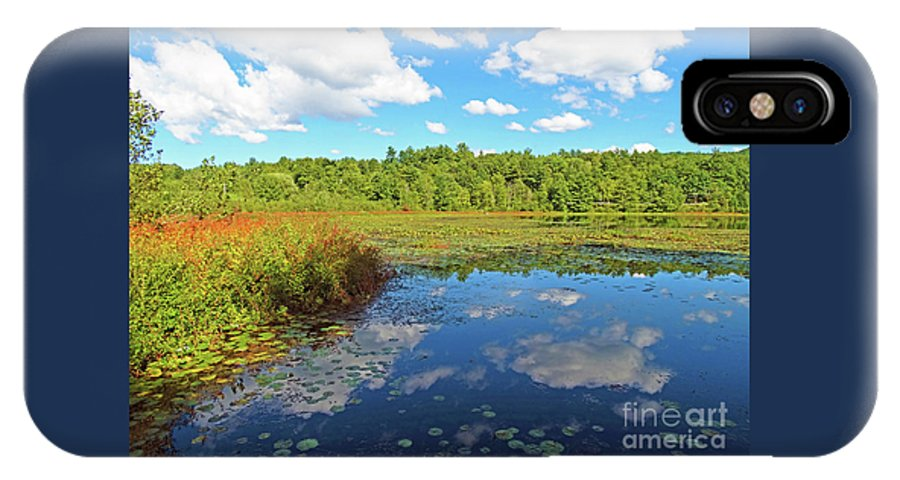 Lily Pond Autumn Lake St Catherine Poultney Vermont IPhone X Case featuring the photograph Hint Of Autumn by Karen Velsor