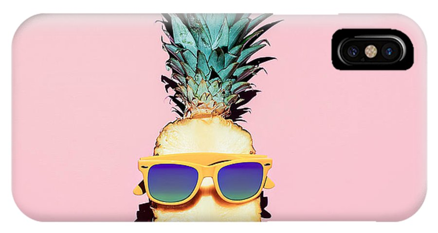 Fancy IPhone X Case featuring the photograph Hipster Pineapple Fashion Accessories by Evgeniya Porechenskaya