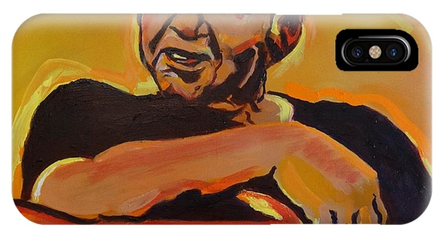 John Prine IPhone X Case featuring the painting His Pumpkin's Little Daddy by Eric Dee