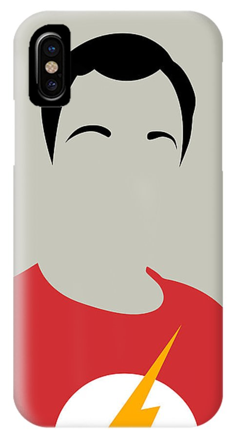 Great Collection Of Minimalist Movie Posters. Classic Movies IPhone X Case featuring the digital art Sheldon Portrait by Naxart Studio