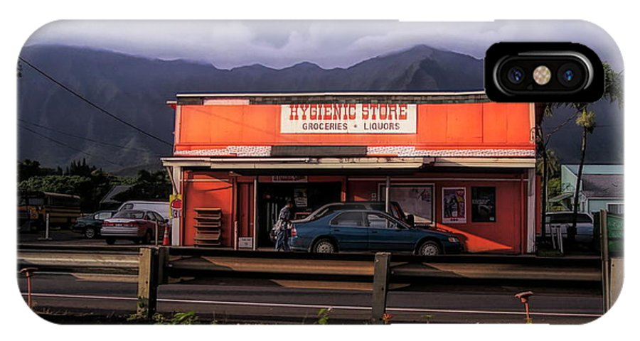 #hawaii IPhone X Case featuring the photograph Hygienic Store, Kahalu'u by Cornelia DeDona