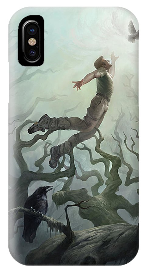 Spiritual IPhone X Case featuring the digital art Illusion Of Freedom by Steve Goad