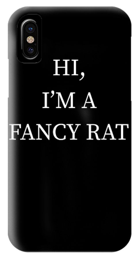 Halloween IPhone X Case featuring the digital art Im A Fancy Rat Halloween Funny Last Minute Costume by Michael S