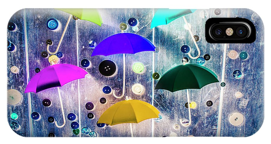 Artwork IPhone X Case featuring the photograph Imagination Raining Wild by Jorgo Photography - Wall Art Gallery