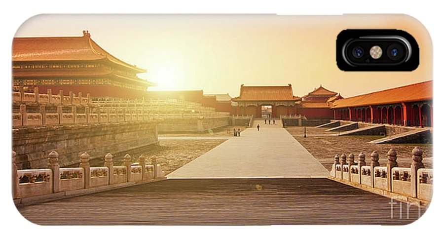 Forbidden City IPhone X Case featuring the photograph Inside The Forbidden City by Delphimages Photo Creations
