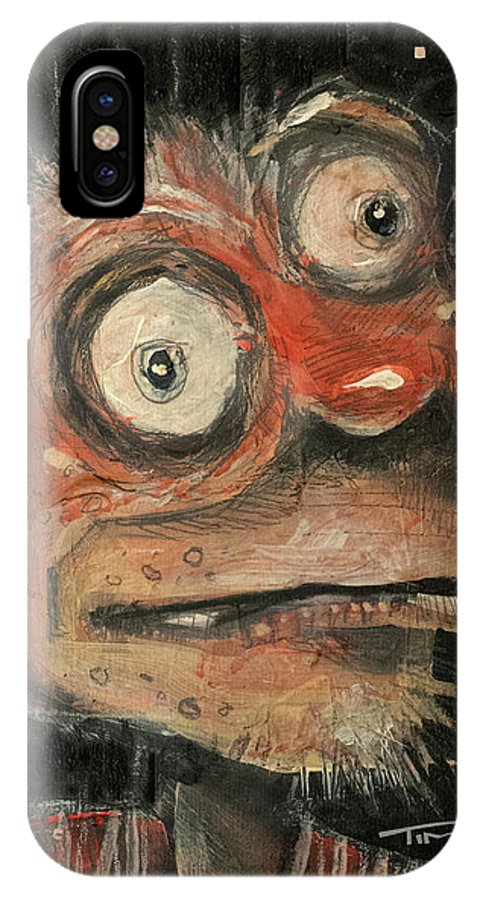 Man IPhone X Case featuring the painting Irwin by Tim Nyberg