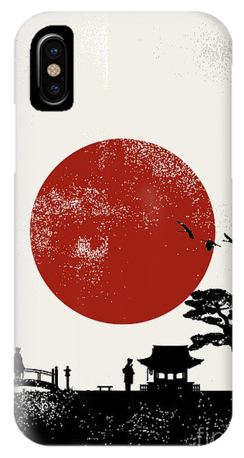 Symbol IPhone X Case featuring the digital art Japan Scenery Poster, Vector by Seita