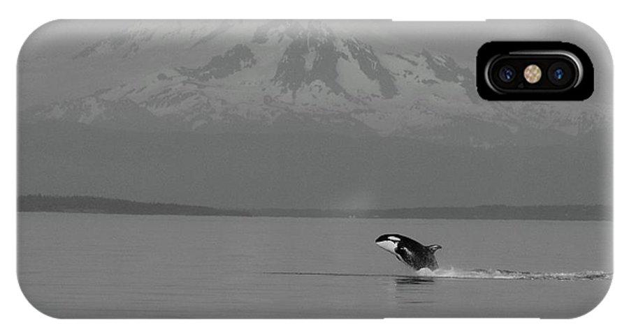 Orca IPhone X Case featuring the photograph Joyful Baby B/w by Meagan Suedkamp
