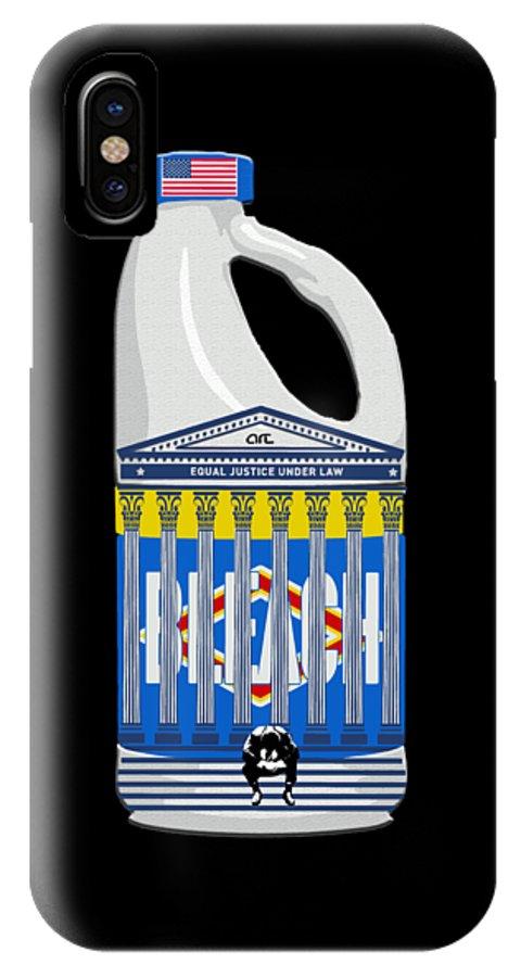 Diet Hope IPhone X Case featuring the digital art Judicial Breach by Art By Art