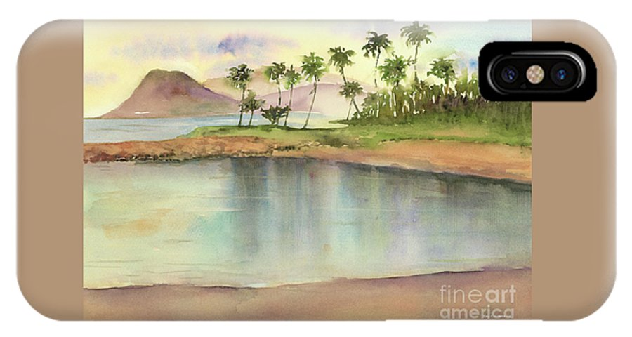 Hawaii IPhone X Case featuring the painting Ko Olina by Amy Kirkpatrick