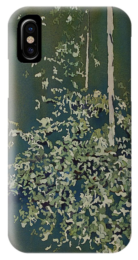 Forest IPhone X Case featuring the painting Lacy Edge by Jenny Armitage