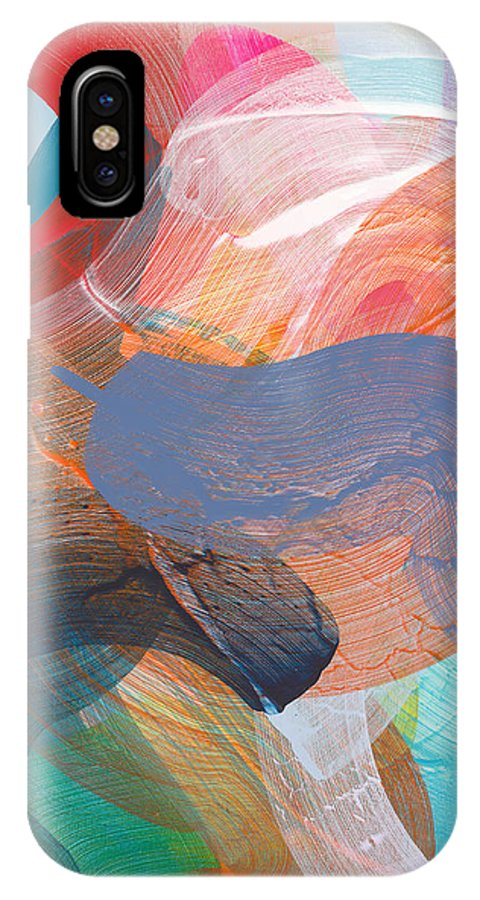 Abstract IPhone X Case featuring the painting Like A Gypsy by Claire Desjardins