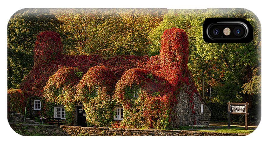 Tu Hwnt I'r Bont IPhone X Case featuring the photograph Llanrwst Tea Room Autumn by Adrian Evans