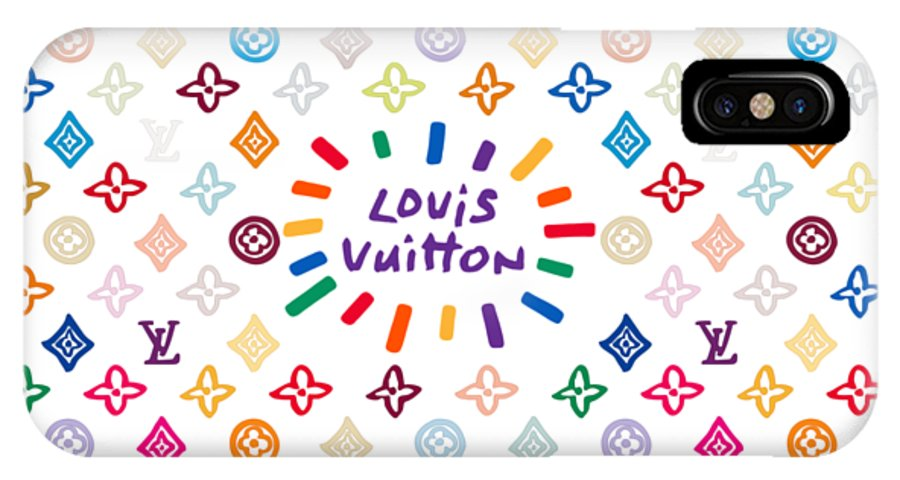 Lv IPhone X Case featuring the painting Louis Vuitton Monogram-12 by Nikita