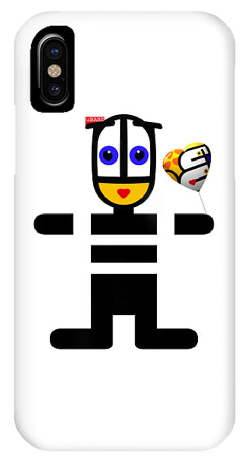 Ubabe Brand IPhone X Case featuring the digital art Love Ubabe by Ubabe Style