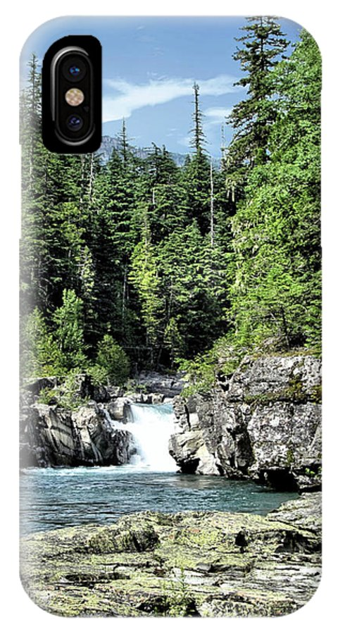 Water IPhone X Case featuring the photograph Mcdonald Creek 1 by John Trommer