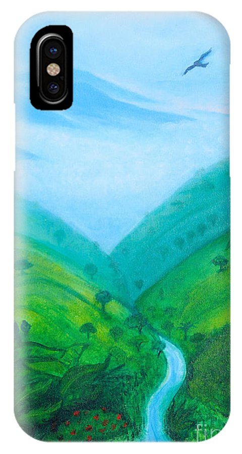 Medellín IPhone X Case featuring the painting Medellin Natural by Gabrielle Wilson-Sealy