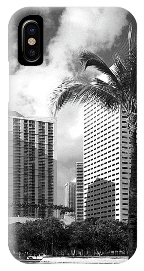 Park IPhone X Case featuring the photograph Miami Downtown 071903 by Rudy Umans