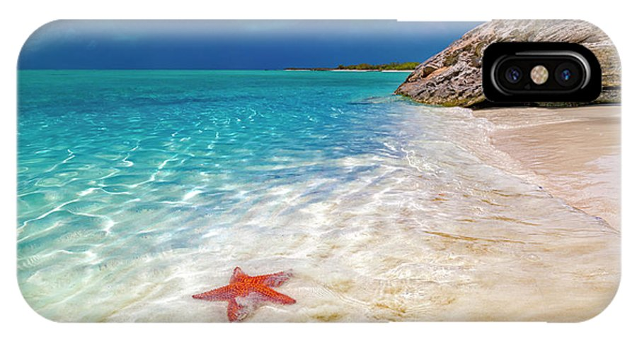 Starfish IPhone X Case featuring the photograph Middle Caicos Tranquility Awaits by Betsy Knapp