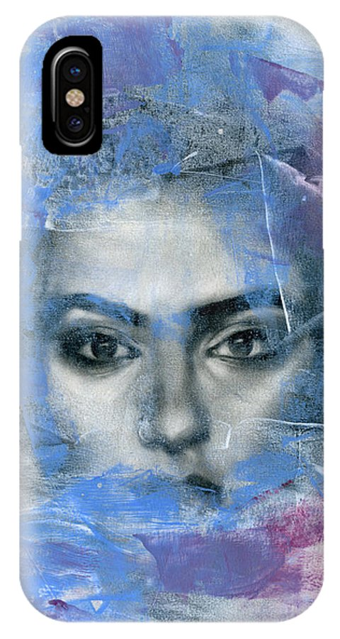 Contemporary IPhone X Case featuring the painting Movement #12 by Patricia Ariel
