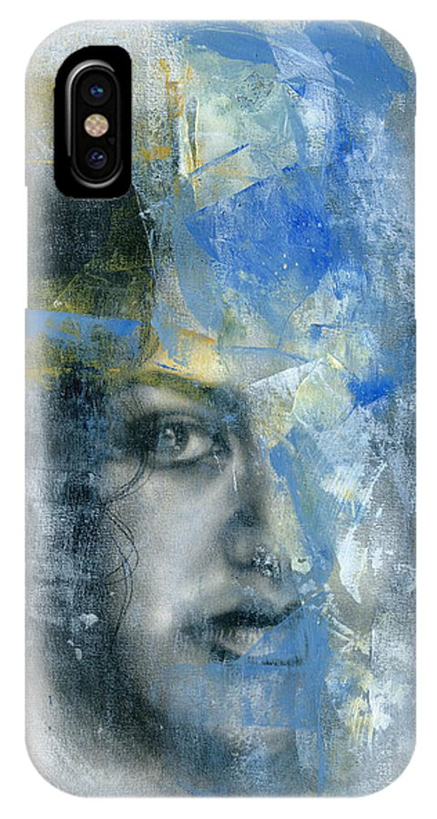Portrait IPhone X Case featuring the painting Movement #9 by Patricia Ariel
