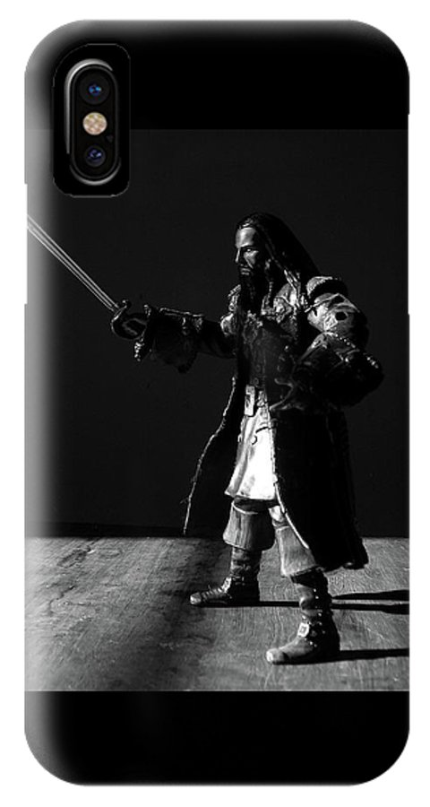 Pirate IPhone X Case featuring the photograph Blackbeard The Pirate by Barista Uno